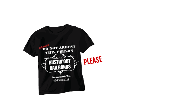 """Please Do Not Arrest This Person!"" T-Shirts Available!"